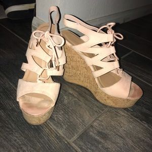 Pink Bamboo Wedges